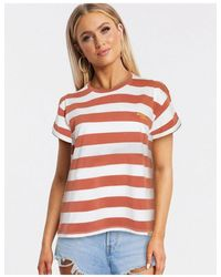 Blend She Camiseta marrón a rayas - Multicolor