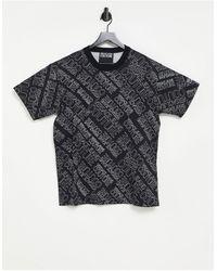 Versace Jeans Couture Черная Футболка Со Сплошным Принтом Логотипа Couture-черный Цвет