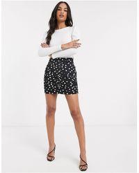 Stradivarius Polka Dot Mini Skirt - Black