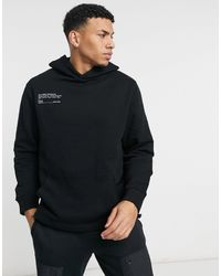 TOPMAN - Co-ord Print Hoodie With Bungee Cord - Lyst