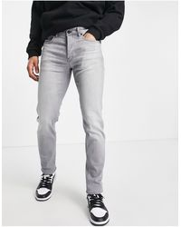 BOSS by HUGO BOSS Taber Tapered Fit Jeans - Grey