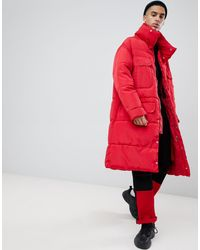 Sixth June Piumino oversize rosso