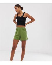 ASOS Asos Design Tall Culotte Shorts - Green