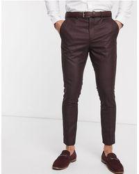 SELECTED Skinny-fit Geruite Pantalon Met Stretch - Meerkleurig