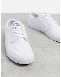 Nike Zoom Janoski Premium Canvas Trainers - White