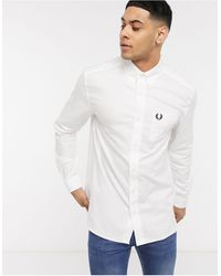 Fred Perry Camisa Oxford blanca - Blanco