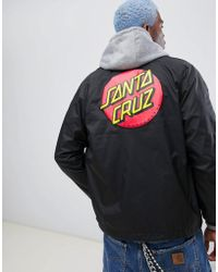 Santa Cruz Veste d'entraneur classique avec logo rond - Noir