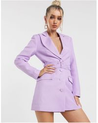 Significant Other Dahlia - Robe courte style blazer - Lavande - Violet