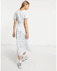 Warehouse Bonnie Ditsy Midi Dress - Multicolour