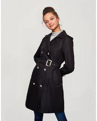 Miss Selfridge Trench Coat - Black