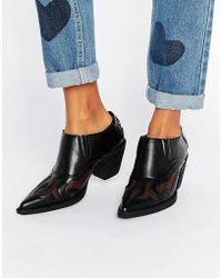 Glamorous Western Shoe Boots - Black