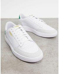PUMA Бело-зеленые Кроссовки Ralph Sampson Mc Clean-белый