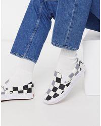 Vans Classic Slip On Checkboard Trainers - White