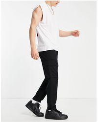 New Look Pantaloni cargo neri - Nero