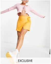 Collusion 90s Wrap Skirt With Waist Ties - Orange