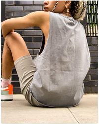 ASOS Vest With Dropped Armhole - Grey
