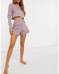 Brave Soul Фиолетовый Комплект Одежды Для Дома С Длинными Рукавами - Пурпурный