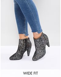 New Look Printed Cone Heeled Ankle Boot - Multicolor