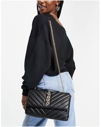 Call It Spring By Aldo Beamma Vegan Quilted Chain Detail Crossbody Bag - Black