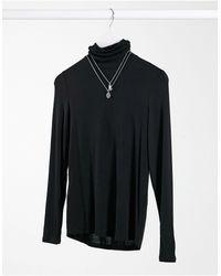 Mango Long Sleeved Roll Neck T-shirt - Black