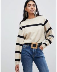 Mango - Stripe Detail Jumper - Lyst
