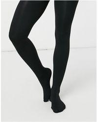 New Look Колготки На Флисовой Подкладке -черный Цвет