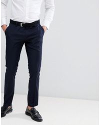 Antony Morato - Slim Fit Suit Trouser In Navy - Lyst