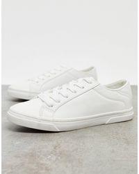 New Look Белые Кроссовки На Шнуровке -белый
