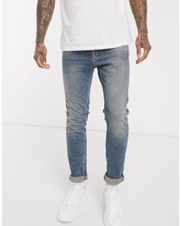 SELECTED Slim Stretch Fit Leon Jeans-blue