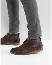River Island Leather Desert Boots - Brown