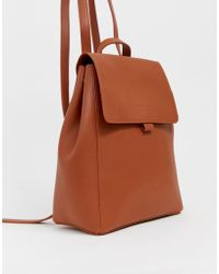 Claudia Canova Unlined Foldover Backpack - Brown
