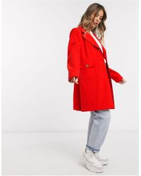 Oasis Classic Straight Coat - Red