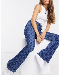 Jaded London Flare Jeans - Blue