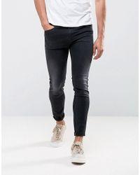 DIESEL - Stickker Super Skinny Jeans 684j Black Wash - Lyst