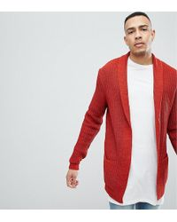 High Quality Cheap Price DESIGN Tall knitted cardigan in orange - Rust Asos For Cheap Cheap Online 9mmopq