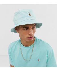 wholesale dealer fad15 d2eff Cappello da pescatore verde chiaro con logo multi - In esclusiva per ASOS
