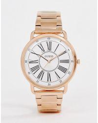 Guess - W1149l3 Kennedy Bracelet Watch - Lyst