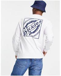 Dickies Fnb - t-shirt à manches longues avec imprimé encadré au dos - Blanc