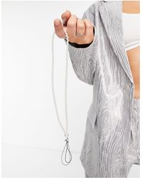 Glamorous Pearl Interchangeable Bag Or Phone Strap - White