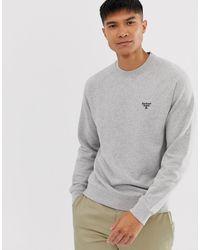 Barbour Sweater Met Ronde Hals In Gemêleerd Grijs