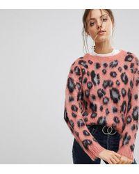 Esprit Animal Print Sweater - Pink