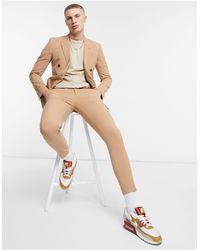 ASOS Super Skinny Suit Pants - Natural