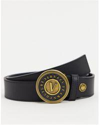 Versace Jeans Couture Черный Ремень С Круглой Пряжкой -черный Цвет