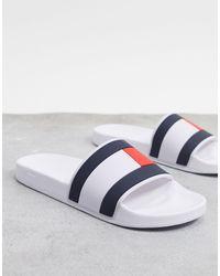 Tommy Hilfiger Essential Flag Sliders - Blanc