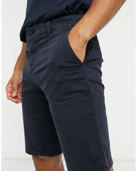 BOSS by Hugo Boss Shorts chinos slim Schino - Azul