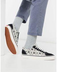 Vans Primary Check Old Skool Black & White Shoes