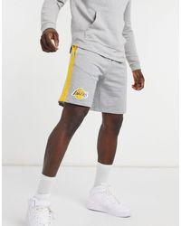 KTZ Nba La Lakers Jersey Shorts With Taping - Grey