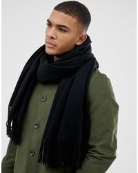 ASOS 100% Wool Blanket Scarf - Black