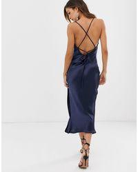 ASOS Cami Midi Slip Dress - Blue