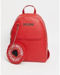 Love Moschino Красный Рюкзак С Цепочкой